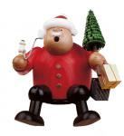 Räuchermann Kantenhocker Weihnachtsmann mit Baum
