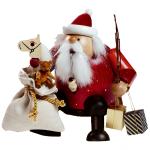 Räuchermann Kantenhocker Weihnachtsmann mit Sack