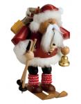 Räuchermann Weihnachtsmann mit Skiern