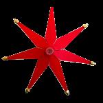 Weihnachtsstern beleuchtet Rot einfach