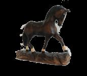 Pferd dunkel mit dunkler Mähne