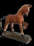 Pferd hell mit blonder Mähne