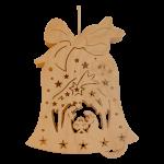 Beleuchtetes Fensterbild Glocke Christi Geburt