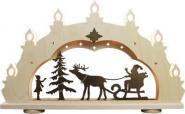 Schwibbogen rustikal Weihnachtsmann auf Schlitten